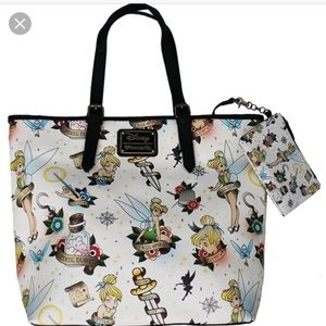 Loungefly tinkerbell tote
